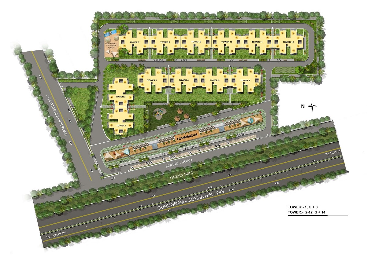 Pyramid Affordable Housing Gurgaon Site Plan