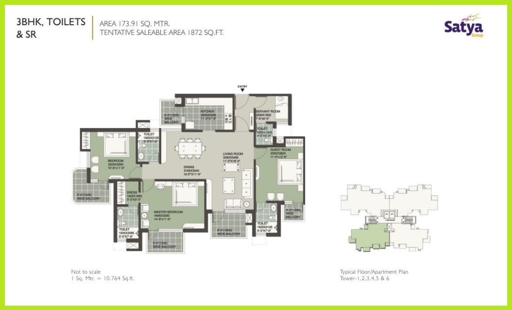 Floor Plan 2 of Satya Merano Greens