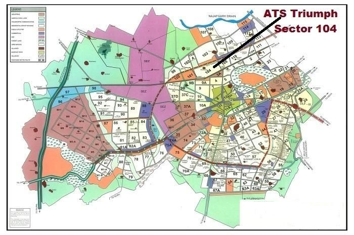 ATS Triumph Sector 103 gurgaon Location_Map