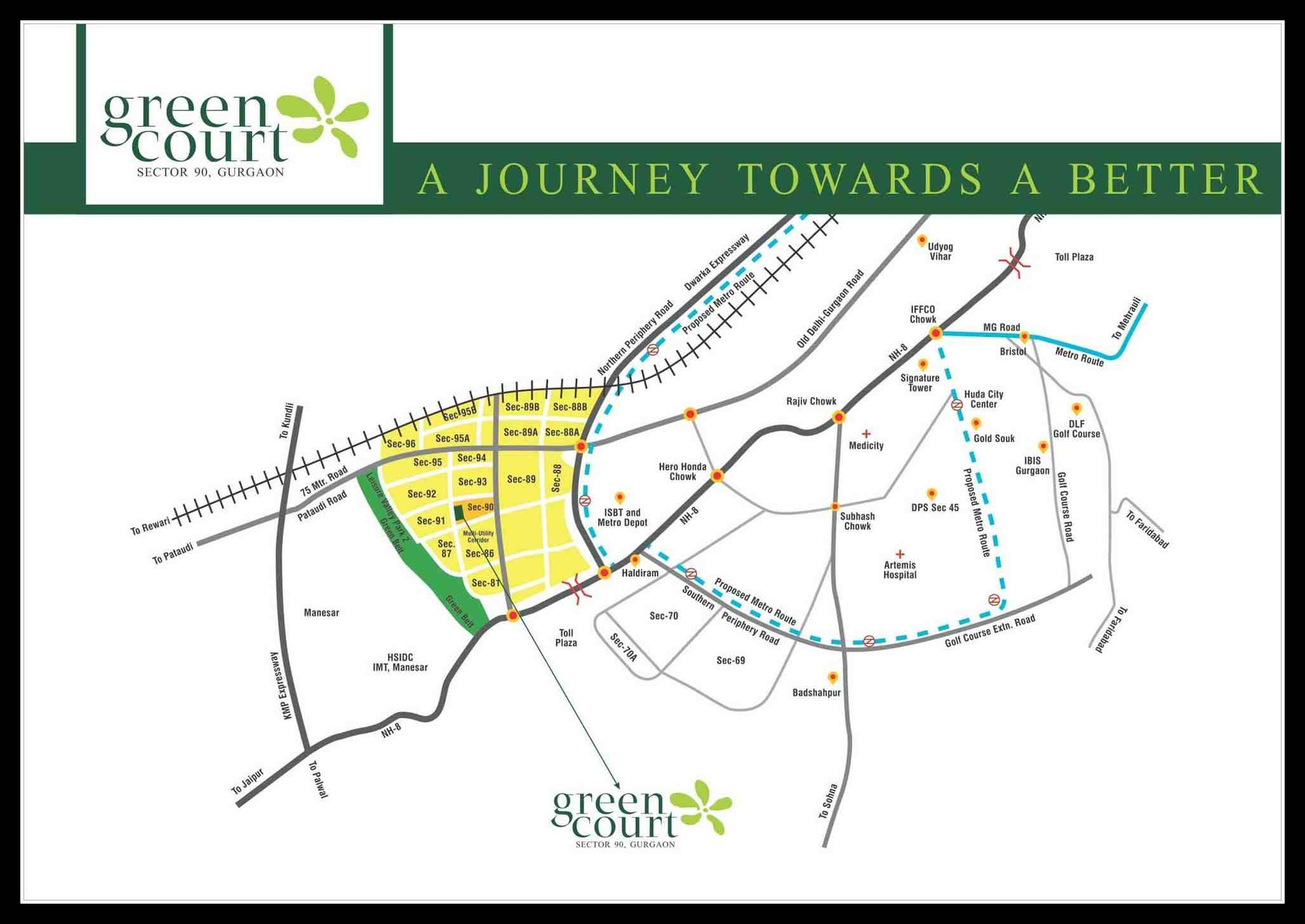 affordable housing project in sector 90 gurgaon location map