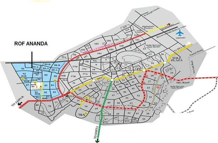 ROF Ananda Location Map