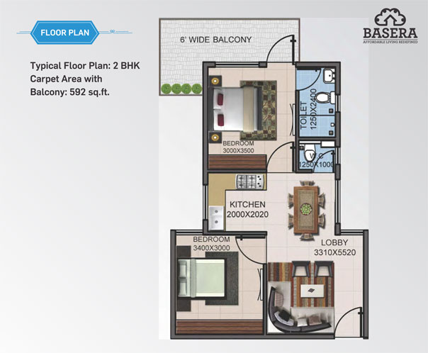 affordable housing project in sector 79 gurgaon 2 bhk