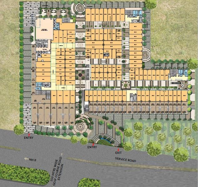 site plan m3m corner walk sector 74