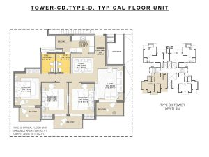 Floor Plan 3 BHK 1550