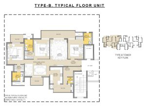 Floor Plan 3 BHK 2350