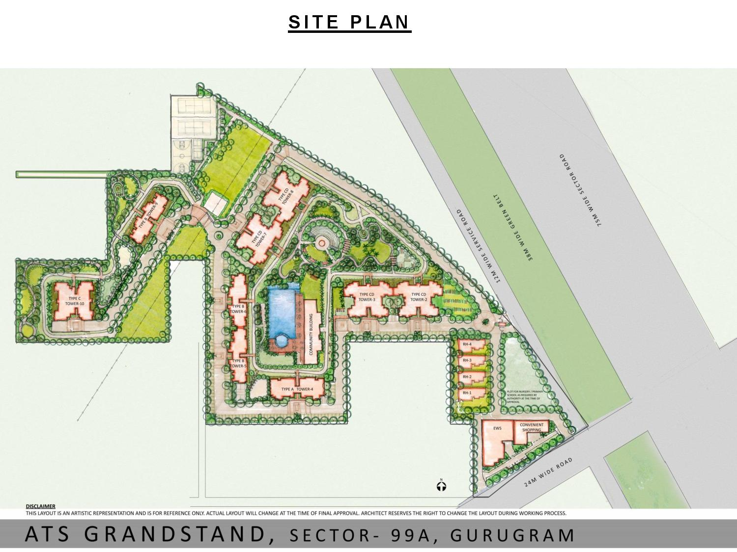 Site Plan of ATS Grandstand