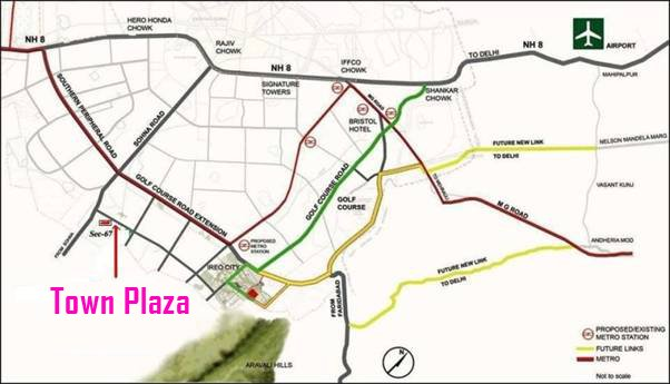 Town Plaza Gurgaon Sector 67 Location Map