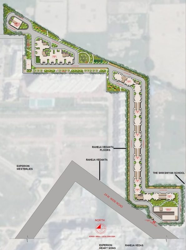 Site Map of agrante kavyam homes
